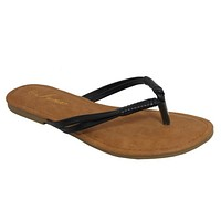 INSANITY CLOSEOUT! Every Girls Must! Classic Black Flip Flop Sandals