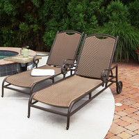 Tortuga Outdoor Stonewick Chaise Loungers Set of 2