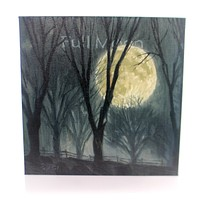 Halloween FULL MOON Wood Giclee Canvas Print 349M1414