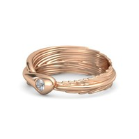 Round Rock Crystal 14K Rose Gold Ring | Birds Of A Feather Ring | Gemvara