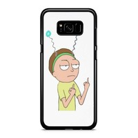 Rick And Morty Morty Middle Finger 2 Samsung Galaxy S8 Case