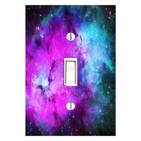 Milky Way Decals Light Switch Cover Deep Space Skins Wall Art Stars LS29