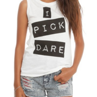 I Pick Dare Girls Muscle Top