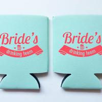 Bride's Drinking Team Coozies