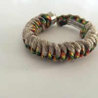 Hemp and Jamaican Me Crazy 550 Paracord Secret Pipe Bracelet w/ FREE SHIPPING