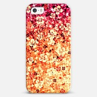 FLOWER POWER in TANGERINE - Colorful Whimsical Floral Abstract Pretty Bold Summer Blood Orange Crimson Red Magenta Flowers Ombre Painting iPhone 5s case by Ebi Emporium | Casetify