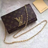 LV Louis Vuitton MONOGRAM CANVAS CHAIN HAND BAG SHOULDER BAG