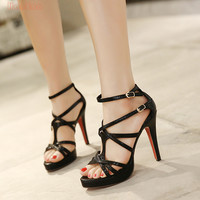 Red Bottom High Heels - Black