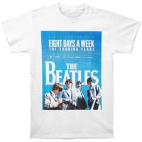 Beatles Men's  8 Days A Week Slim Fit T-shirt White