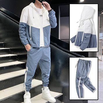 2 Piece Mens Spring/Summer Lightweight Tracksuit Outfit