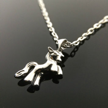 Charm Necklace My Little Pony Necklace Cute Kawaii Necklace Pony Necklace Horse Animal Jewelry Brony