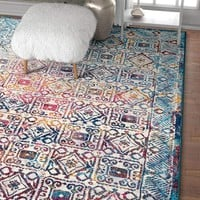 2944 Multi Distressed Bohemian Oriental Area Rugs