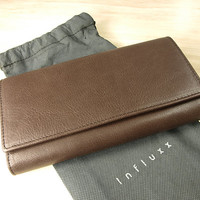 Aubrey Brown Envelope Leather Wallet : Leather wallet / Brown Leather Purse / Leather Purse / Brown wallet