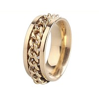 Men's Spinner Chain Wedding Band
