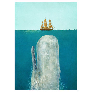 Terry Fan The Whale wall decal