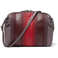 Bottega Veneta - Nodini small embroidered intrecciato leather shoulder bag