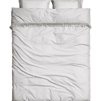 Duvet Cover Set with Fringe - from H&M