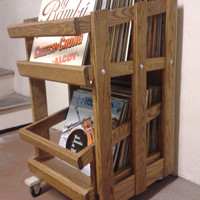 RC4 Vinyl Record Cabinet with Drawer Slide