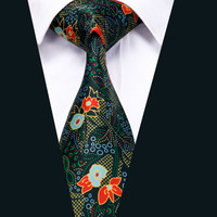 New Arrival Colorful Floral Cotton Ties For Men Party Vintage Printed Necktie Design Neckwear High Quality