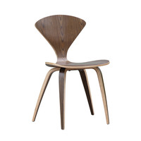 Wooden Molded Chair in Walnut