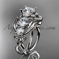 Platinum celtic trinity knot engagement ring , wedding ring CT769