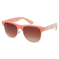 Full Tilt Ethnic Clubmaster Sunglasses Coral One Size For Women 23319831301