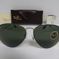 Cheap New Vintage B&L Ray Ban Large Metal II Flying Colors Blue Gold 62mm NOS USA outlet