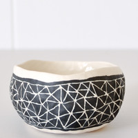 Black Etched Bowl