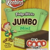 Kellogg's Keebler Jumbo Cr?me Fudge Stick, Mint, 6.6-Ounce (Pack of 4)