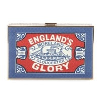 anya hindmarch - england's glory imperial snakeskin clutch
