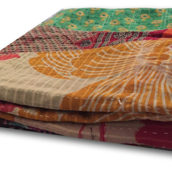 Cool Boho Chic Gift and Hippie Gifts For Her  Vintage Kantha Quilt / Throw Fair Trade | Free Shipping