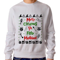 Harry Potter Merry Christmas Ya Filthy Mudblood 3 Sweater Man And Sweater Woman
