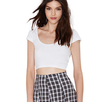 Short Sleeve Bodycon Cropped Top