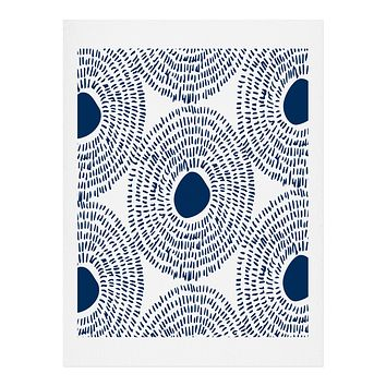 Camilla Foss Circles In Blue II Art Print