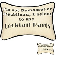 Set of 2 Cocktail Party Pillows