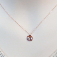 Cubic, Zodiac 12 signs, Coin, Gold, Silver, Rose gold, Necklace, Lovers, Friends, Mom, Sister, Gift