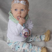 Organic Baby Leggings - Winter Leggings - Unisex Jogging Bottoms - Warm Trousers - Sweat Pants - Unisex Clothes - Printed Trousers - Joggers