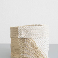 White Hemp Basket - Small