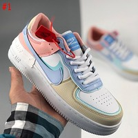 NIKE Air Force 1 Shadow stitching macaron bottom all-match sneakers Shoes