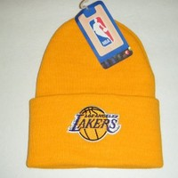 Los Angeles Lakers NEW Vintage Beanie / Toque / Knit Hat