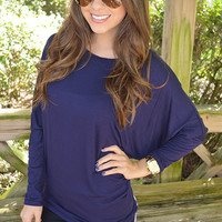 Fly Away Home Tunic: Navy Blue