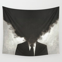 Confessions of a Guilty Mind. Wall Tapestry by Carlos Credi