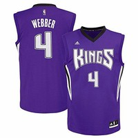 Chris Webber Sacramento Kings NBA Adidas Men's Purple Replica Jersey