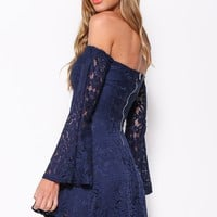 Flared Out Dress Navy