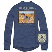 Long Sleeve Standing Tall Tee in Navy by Over Under Clothing