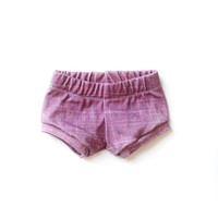 Organic Baby Shorties in Cranberry Plum