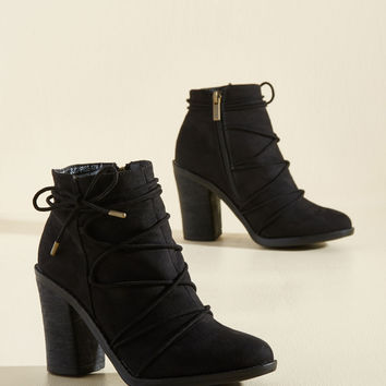 From Ties to Time Bootie | Mod Retro Vintage Boots | ModCloth.com