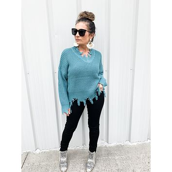 Knit Me Up Sweater in Sage