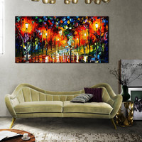 Unframed 1 Panel  Abstract Modern Oil Painting On Canvas Knife painting Home Wall Picture For Home Decoration Artwork