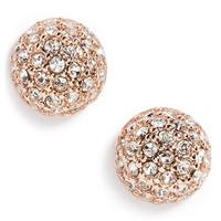 Women's Givenchy Pave Ball Stud Earrings
